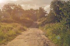 Дорога в деревне взрослые молодые Стоковое Фото