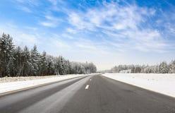 Дорога в зиме стоковое фото
