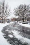 Дорога в зиме Стоковые Фотографии RF
