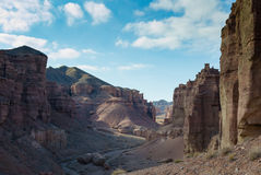 Дорога в каньоне Charyn Стоковые Фотографии RF