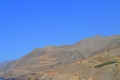 Дорога в Крите Греции Стоковые Фотографии RF