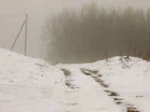 Дорога в Литве водя к нигде стоковые изображения rf