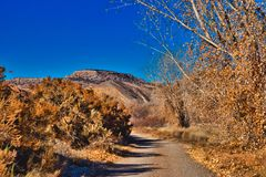 Дорога в ноябре к Юте стоковые изображения