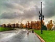 Дорога в осени Стоковая Фотография