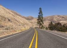 Дорога вдоль каньона реки Yakima Стоковое Изображение