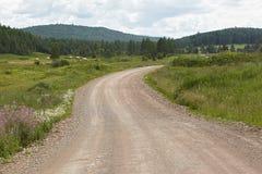 Дорога в поле Стоковое Фото