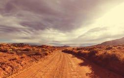 Дорога в прерии Стоковые Изображения RF
