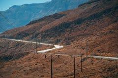 Дорога в пустыне Judean Стоковые Фотографии RF