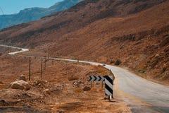Дорога в пустыне Judean Стоковое Изображение RF