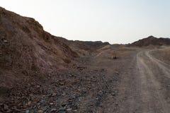 Дорога в пустыне Negev Стоковые Фото
