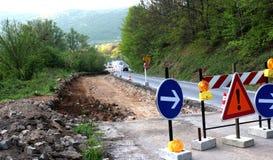 Дорога в ремонте Стоковое Фото