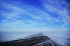 Дорога в снеге Стоковое Изображение RF