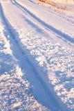 Дорога в снеге Стоковая Фотография