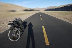 Дорога в Тибете Стоковые Изображения RF