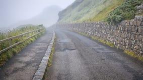 Дорога в тумане Стоковая Фотография RF