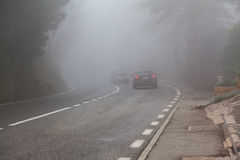 Дорога в тумане Стоковое Фото
