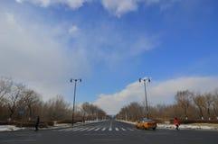 Дорога в Харбин, Китай стоковое фото
