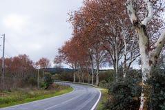 Дорога в Alentejo, Португалии Стоковые Изображения