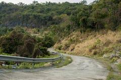 Дорога в Si Chang земля, деревья дороги леса, проселочная дорога, Стоковое фото RF
