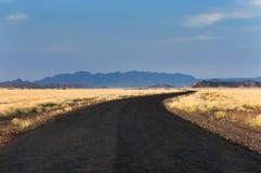 Дорога в Sossusvlei, Намибии Стоковое Изображение