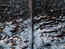Дорога в Stokksnes, Исландии на заходе солнца стоковое изображение rf