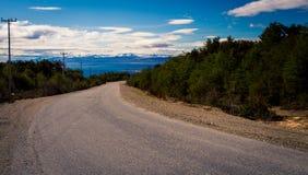 Дорога в Ushuaia Аргентине Стоковая Фотография RF