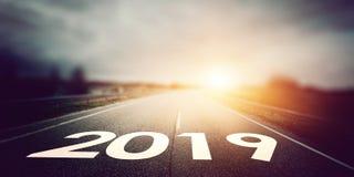 дорога 2019 год стоковая фотография
