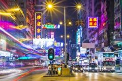 Дорога Гонконг Натана Стоковые Фото