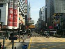 Дорога Гонконг Натана Стоковые Изображения RF