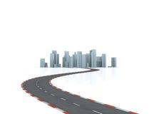 дорога города сымитированная к Стоковые Изображения RF