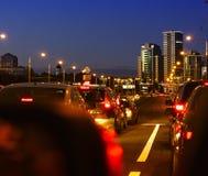 Дорога города вечера Стоковая Фотография RF