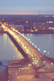 Дорога города ночи Стоковые Изображения