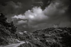 Дорога горы в Непале Стоковая Фотография RF