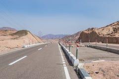 Дорога горы в пустыне Синая Стоковые Изображения RF