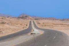Дорога горы в пустыне Синая Стоковое фото RF