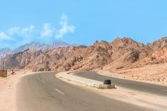 Дорога горы в пустыне Синая Стоковое Изображение RF