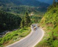Дорога горы в северном Вьетнаме Стоковое фото RF