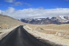 Дорога горы в Сиккиме, Индии Стоковые Изображения RF