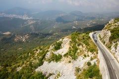 Дорога горы в Черногории Стоковое Изображение RF