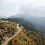 Дорога горы в Черногории Стоковые Фото