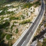 Дорога горы в Черногории Стоковая Фотография RF
