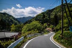Дорога горы в Chichibu стоковые изображения rf