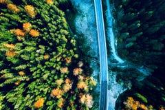 Дорога горы между Сараевом и Tuzla Стоковое фото RF