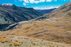 Дорога горы Новой Зеландии Стоковое Изображение RF