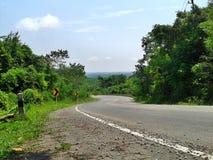 Дорога горы, Таиланд Стоковое Фото