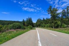 Дорога горы черного леса Стоковая Фотография