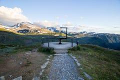 Дорога горы Sognefjellet в южной Норвегии Стоковое Изображение RF