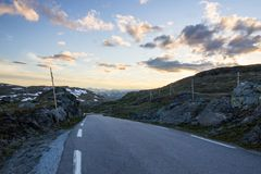 Дорога горы Sognefjellet в южной Норвегии Стоковое Изображение