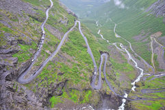 Дорога горы Trollstigen, Норвегия Стоковое Изображение RF