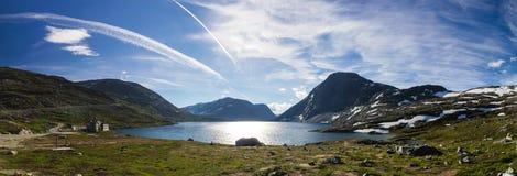 Дорога горы trollstigen Geiranger в южной Норвегии Стоковое Изображение